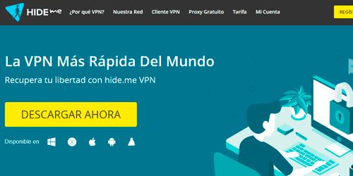 hide me es una de las vpn más rápidas gratis pra portátil sobremesa pc y apps