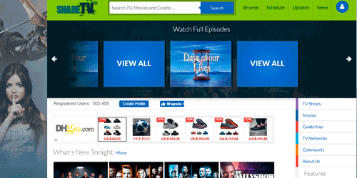 sharetv online para ver series peliculas gratis en streaming