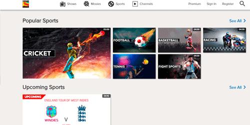futbol online gratis SONY LIVE